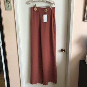 NWT Zara Burnt Orange Wide Leg High Waist Pants